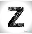 grunge letter z black font sketch style symbol vector image vector image