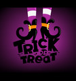 happy halloween greeting card trick or treat vector image vector image