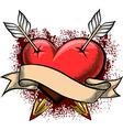 heart pierced arrows vector image vector image