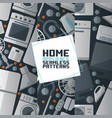 household appliances electronic seamless pattern vector image