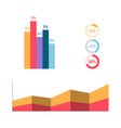 infographic elements bisness graph and diagram vector image