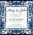 invitation card template with openwork pattern vector image