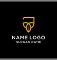 letter j leaf logo vector image vector image