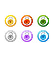 lock icon in different colors gui level vector image vector image