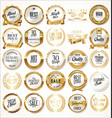 luxury white labels and laurels collection vector image vector image