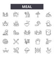 meal line icons signs set linear concept vector image vector image