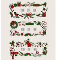 merry christmas grreting card vintage invitation vector image vector image