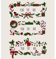 merry christmas grreting card vintage invitation vector image