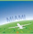 miami flight destination vector image vector image