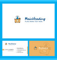 office desk logo design with tagline front and vector image