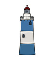 Old blue lighthouse vector image vector image