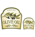 olive oil label vector image vector image
