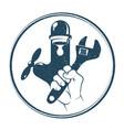 plumbing repair business vector image vector image
