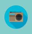 radio flat icon with long shadow eps10 vector image vector image
