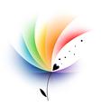 Rainbow abstract flower vector image