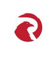 raven bird logo designs and eagle vector image