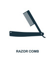 razor comb icon flat style icon design ui vector image