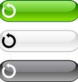 Refresh button vector image vector image