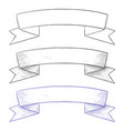 ribbon tape banner hand drawn sketch vector image