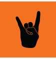 Rock hand icon vector image vector image