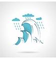 Sea waves flat icon vector image vector image