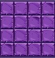 seamless texture of purple square stone vector image vector image