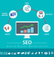 SEO infographic vector image vector image