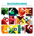 set of colorful square abstract backgrounds vector image