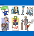 set of politics and politician cartoon concepts vector image