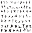 Set of silhouettes of ballet dancers vector | Price: 1 Credit (USD $1)