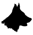 silhouette of dog vector image vector image