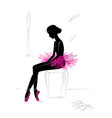 silhouette of young ballerina vector image vector image