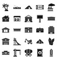 Situation icons set simple style vector image