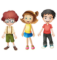 Smiling kids vector image vector image