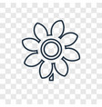 sunflower concept linear icon isolated on vector image