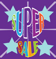 super sale background vector image vector image