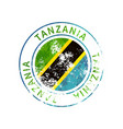 tanzania sign vintage grunge imprint with flag on vector image