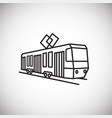 tram thin line on white background vector image