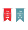 two different stylish banner happy mothers day vector image vector image