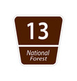 usa traffic road signs national forest road sign vector image vector image