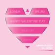 Valentine banner design vector image vector image