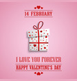 valentine poster with gift of hearts template vector image