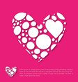 valentines day greetings card pink background vector image vector image