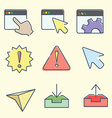 web interface icons vector image vector image