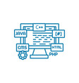 web programming linear icon concept web vector image