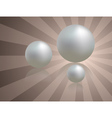 White pearls background vector image vector image