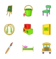 Education of child icons set cartoon style vector image