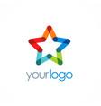 star colorful company logo vector image
