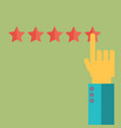 customer review concepts in flat style - male vector image