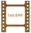 Old filmstrip Movie ending frame vector image
